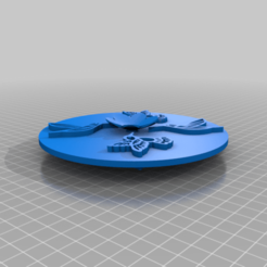 hummingbirds_on_an_oval.png Download free STL file Hummingbirds on an Round • 3D printer model, peterpeter
