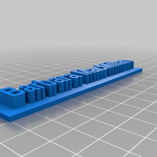 Download gratis 3D-printersjablonen Barbara MacMillan, Peter