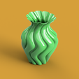 ROUNDED TWISTED VASE render1.PNG Download free STL file ROUNDED TWISTED VASE • Model to 3D print, ea3dp