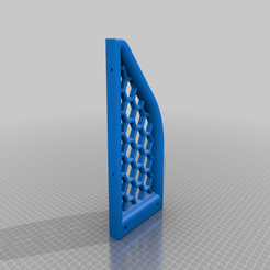 Download free OBJ file Honeycomb Black PSU Replacement Brace (Original Prusa i3 MK3S) • 3D printable template, EA3DP