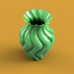 ROUNDED TWISTED VASE render2.PNG Download free STL file ROUNDED TWISTED VASE • Model to 3D print, ea3dp
