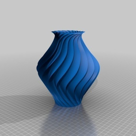 Download free 3D printing files 3D TWISTED VASE, EA3DP