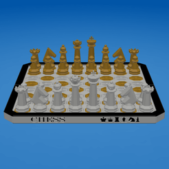 OCTAGONAL CHESS SET (01).png Download STL file OCTAGONAL CHESS SET • 3D printable object, ea3dp