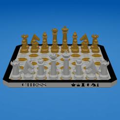 OCTAGONAL CHESS SET (01).png Télécharger fichier STL JEU D'ÉCHECS OCTOGONAL • Design à imprimer en 3D, ea3dp