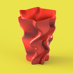 TALL TWISTED VASE render2.PNG Download free STL file TALL TWISTED VASE • 3D printer object, ea3dp