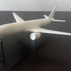 Download free 3D printing designs Boeing 777-200, scale 1:750, naru-13