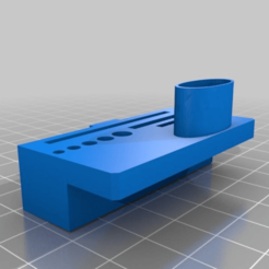 Download free STL files Table edge Ender 3 tool holder with card reader, Dexmoto
