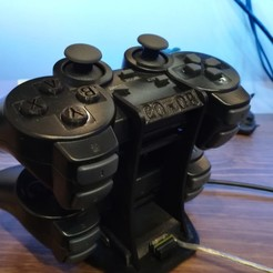 Download free 3D model Controller Stand for DualShock 3 with integrated usb hub, Dexmoto