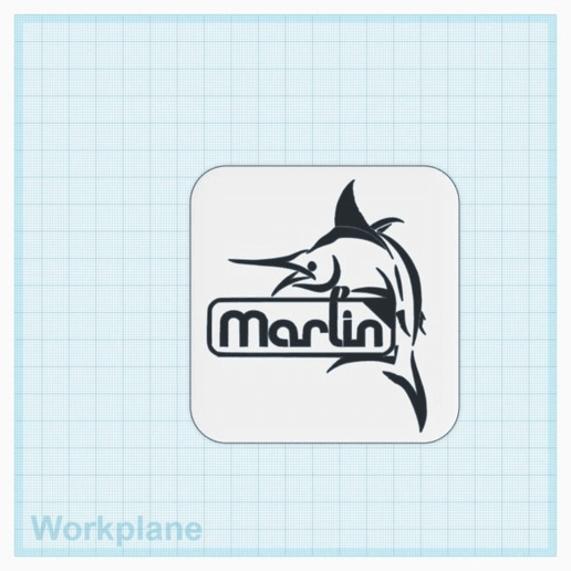 Download free STL file Marlin Firmware Logo With Fish • 3D print object, isaac7437