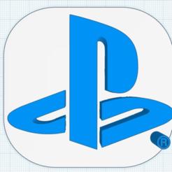 Download free 3D printing designs Playstation Logo, isaac7437