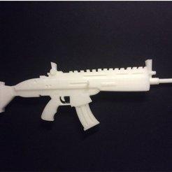 Download 3D printing models Fortnite Scar, Gxstavo