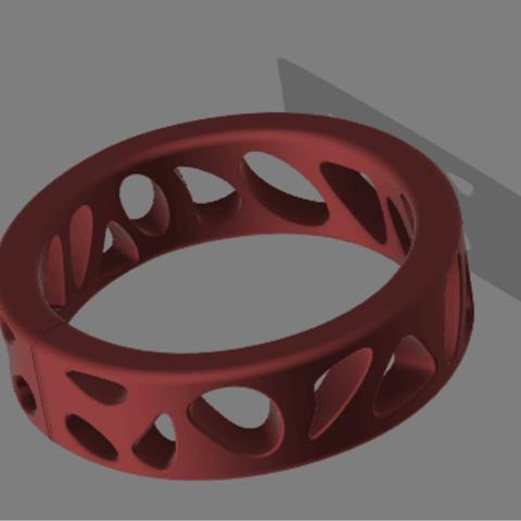 Download 3D printer files Voronoi Ring, skein