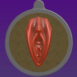 3D printing model Vagina Medallion, Hic-Habitat-3D-Felicitas