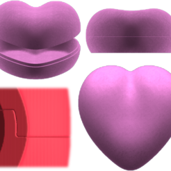 Heart-Box.png Download 3MF file Heart Box • Design to 3D print, Hic-Habitat-3D-Felicitas