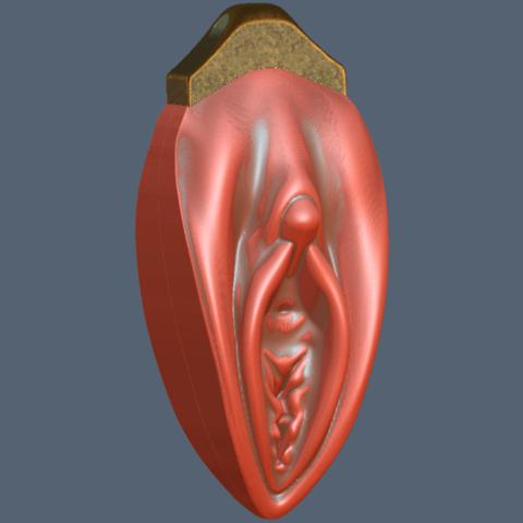 3D printer files Vagina Pendent, Hic-Habitat-3D-Felicitas
