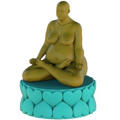 Lotus Position.jpg Download STL file meditation • 3D print template, Hic-Habitat-3D-Felicitas