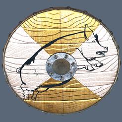 Pig-Schield.png Télécharger fichier 3MF gratuit Pig-Shield • Design imprimable en 3D, Hic-Habitat-3D-Felicitas