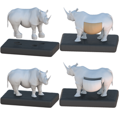 show.png Download STL file Rhinoceros drawer unit • Design to 3D print, Hic-Habitat-3D-Felicitas
