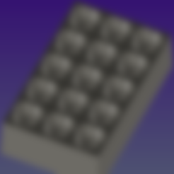Impresiones 3D Bandeja de cubitos de hielo, Hic-Habitat-3D-Felicitas