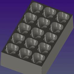 Download 3D printer model Ice Cube Tray, Hic-Habitat-3D-Felicitas