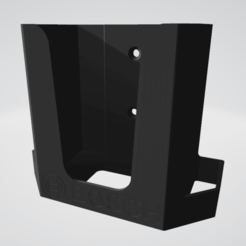 Bosch Ladegerät 4A.png Download STL file Wall bracket for e-bike Bosch charger - 4A version • 3D print object, napalmjoey