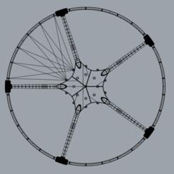 1.png Descargar archivo STL Parapente de jaula de paramotor - Partes separadas para imprimir en una pequeña impresora • Objeto para imprimir en 3D, napalmjoey