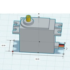 Servo.jpg Descargar archivo STL Servo estándar 20*40 mm • Objeto imprimible en 3D, napalmjoey