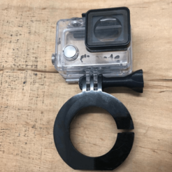 Tillytec Gopro Mount.png Download STL file Gopro Mount für Tillytec diving torch • 3D printer object, napalmjoey