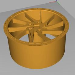 7.png Descargar archivo STL Llanta para el modelo de coche M 1:18 • Objeto para impresora 3D, napalmjoey