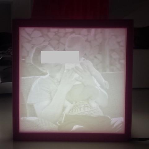 Lampe Cube Lithophane