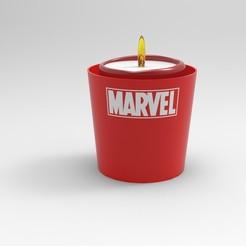 Download 3D print files Marvel comics candle bowl, ps42ws