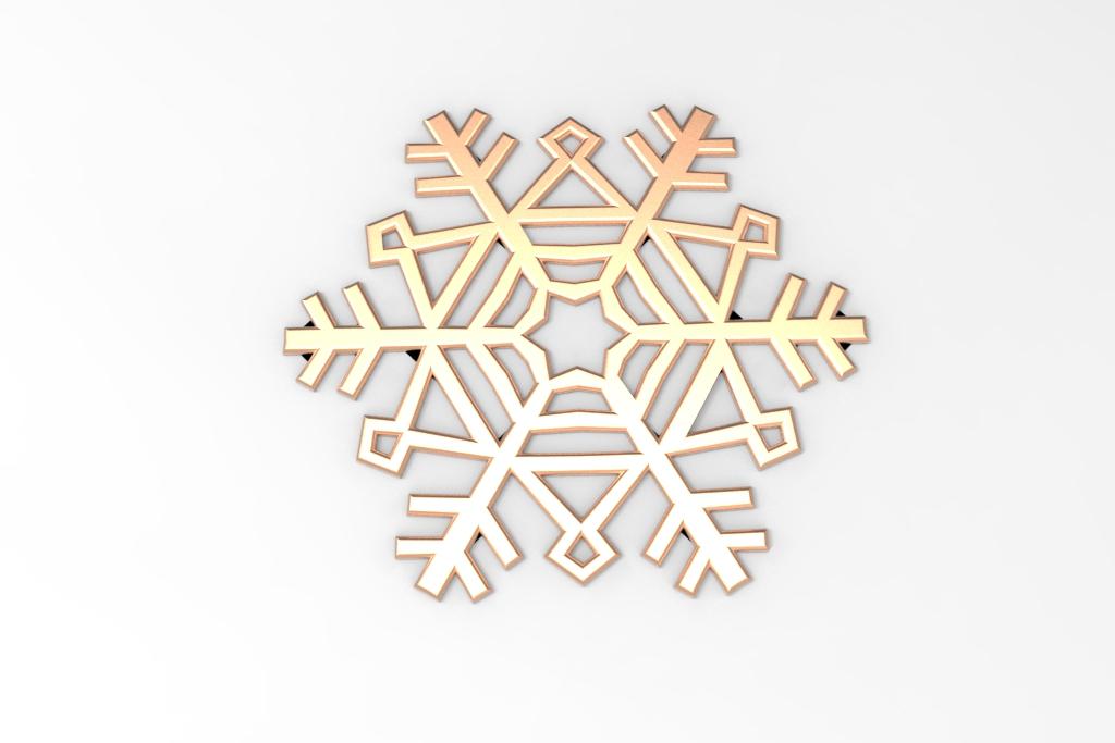 untitled.35.jpg Télécharger fichier STL gratuit Flocon de neige • Modèle imprimable en 3D, Mirson3Dprint