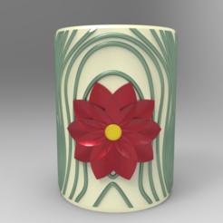 Download 3D printer designs Flower pot pencil holder, Mirson3Dprint