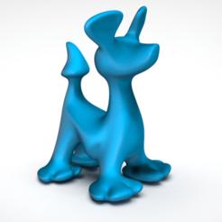 Imprimir en 3D gratis Perro simple, Mirson3Dprint