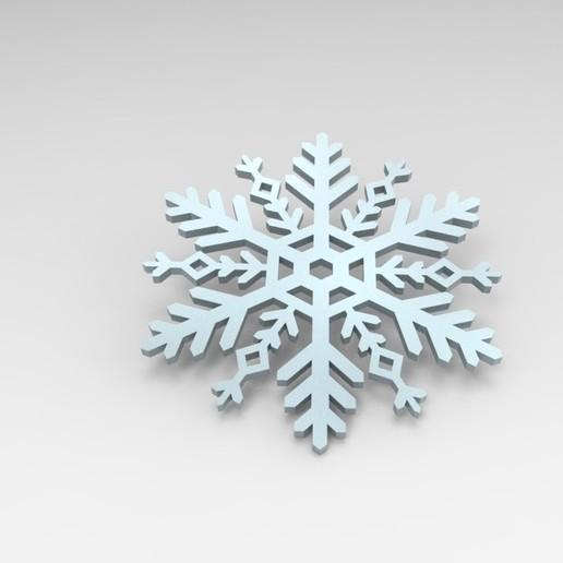 Télécharger fichier 3D gratuit Flocon de neige, ps42ws