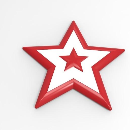 Download 3D printing files Chrismas star, ps42ws