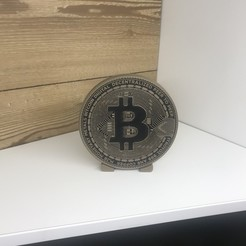 IMG_9889.jpg Download STL file Bitcoin with stand • 3D printable object, Mirson3Dprint