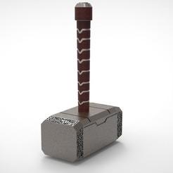 mjolnir_1 (2).jpg Download STL file Mjolnir • 3D printer template, Mirson3Dprint