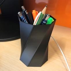 Download free 3D printer designs Pen holder, Mirson3Dprint