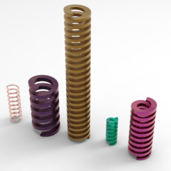 Download free 3D printer files Push springs, Mirson3Dprint