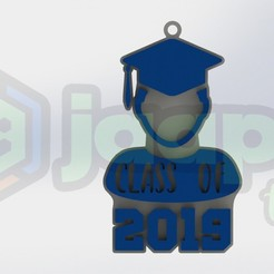 Télécharger fichier impression 3D Porte-clés Graduation 2019, JaapiThings