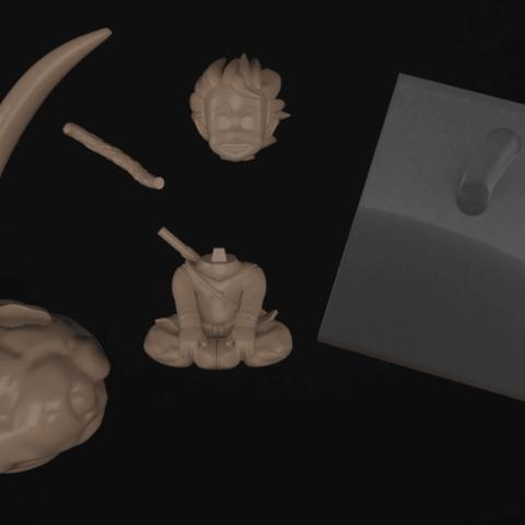 Download 3D printer model KID GOKU , CoseStraneShop