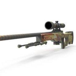 Download 3D printing templates Sniper 3d, sergioarn3