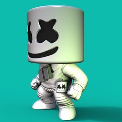 Download STL Marshmello Fortnite, Williamvel