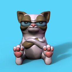 Download 3D printer files Grumpy Cat, Williamvel