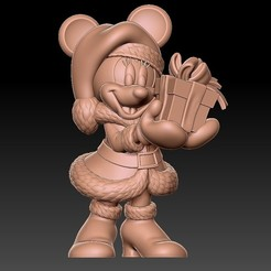Download free STL file minnie • 3D print model, kike75