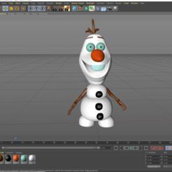 Download free OBJ file Olaf  multicolor • 3D printable design, kike75