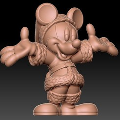 Download free STL file Mickey • 3D print template, kike75