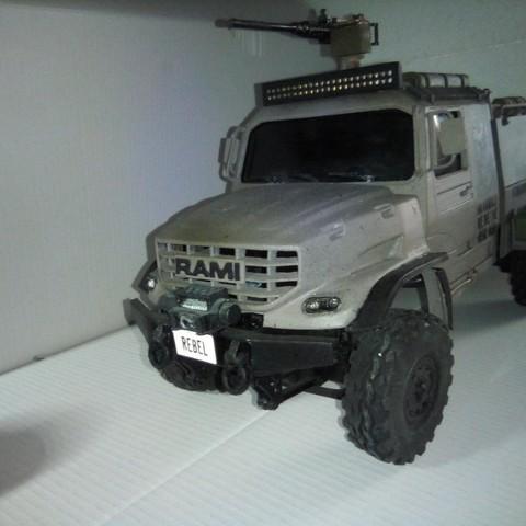 Download STL file Kamaz Dakar (Mercedes Zetros) NEW VERSION  cockpit and hood, rouget02-haul