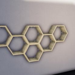 Télécharger plan imprimante 3D Étagère hexagonale universelle, Queen3D